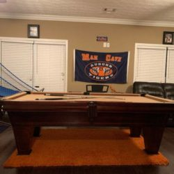 8 Foot Slate Brunswick Pool Table (SOLD)
