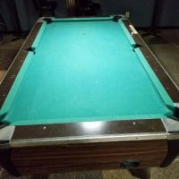Pool table coin operated 7'